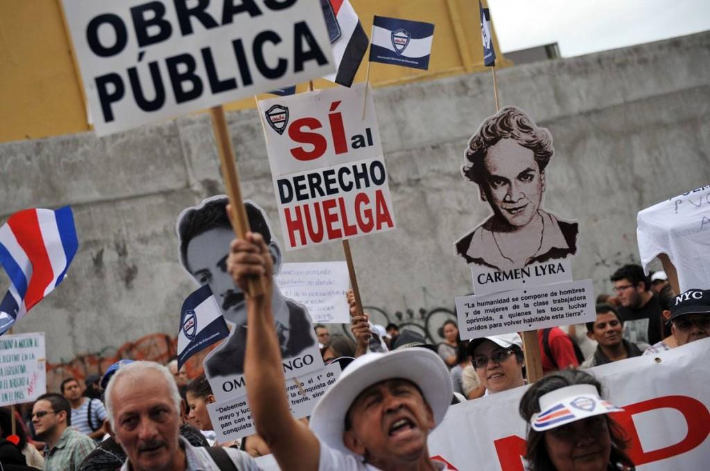 Protestas en Costa Rica, 2013. Foto: AFP en El Universo